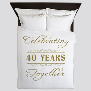 Celebrating 40 Years Together Queen Duvet