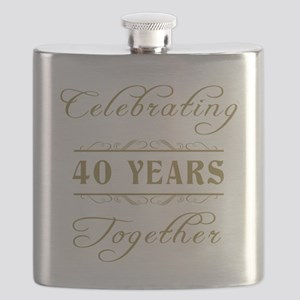 Celebrating 40 Years Together Flask