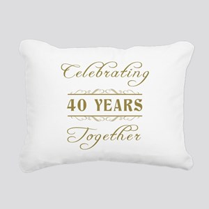 Celebrating 40 Years Together Rectangular Canvas P