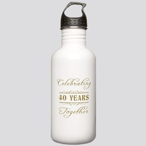 Celebrating 40 Years Together Stainless Water Bott