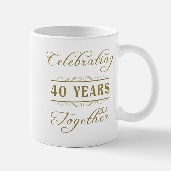 Celebrating 40 Years Together Mug