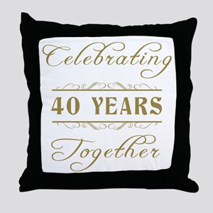 Celebrating 40 Years Together Throw Pillow