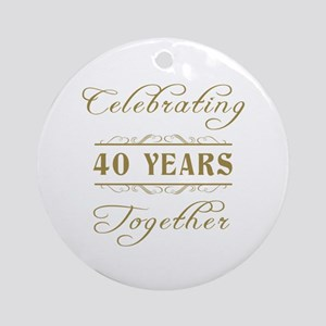 Celebrating 40 Years Together Ornament (Round)