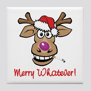 Merry Whatever Tile Coaster