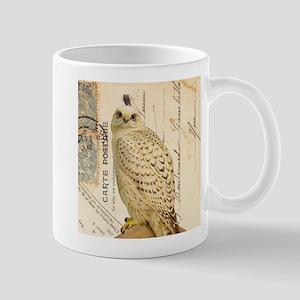Vintage French white owl Mug