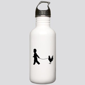 Baby and Chicken black Water Bottle