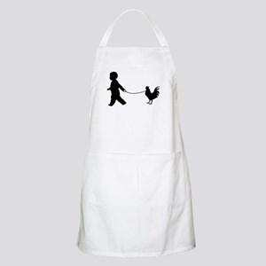 Baby and Chicken black Apron