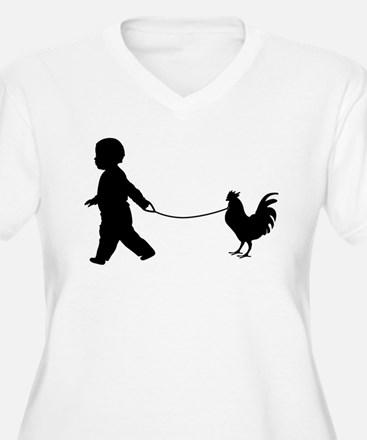 Baby and Chicken black Plus Size T-Shirt