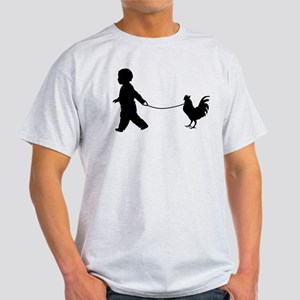 Baby and Chicken black T-Shirt