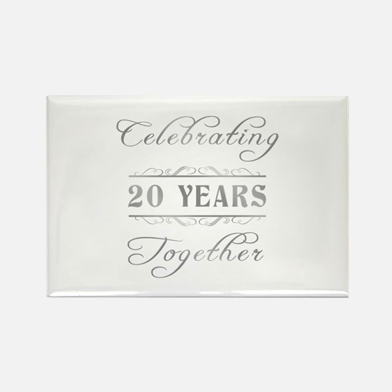 Celebrating 20 Years Together Rectangle Magnet