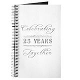 25th wedding anniversary Journals & Spiral Notebooks