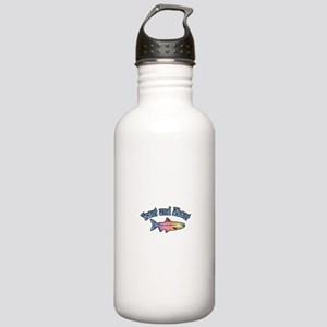 Trout Fishing Word Play Stainless Water Bottle 1.0