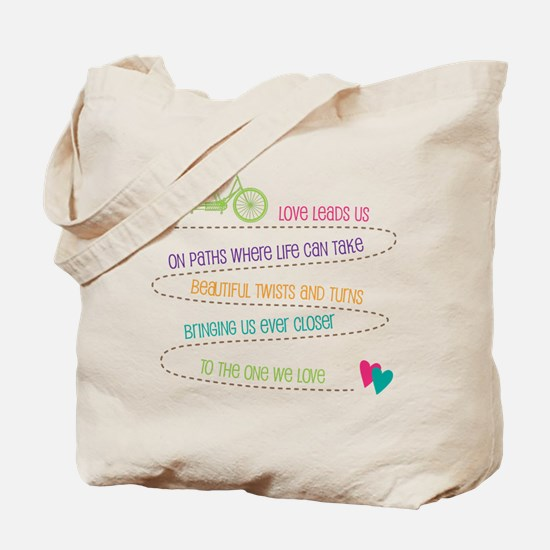Love For Two Bicycle Tote Bag