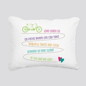 Love For Two Bicycle Rectangular Canvas Pillow