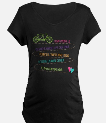 Love For Two Bicycle Maternity T-Shirt