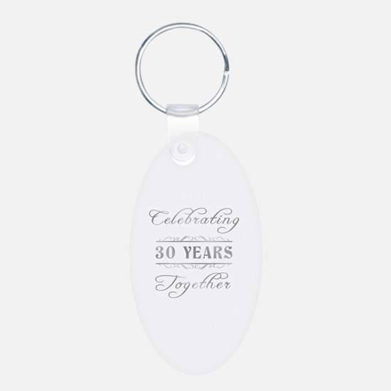 Celebrating 30 Years Together Keychains
