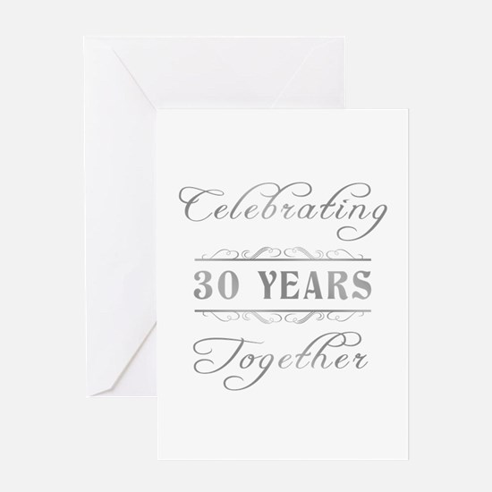 Celebrating 30 Years Together Greeting Card