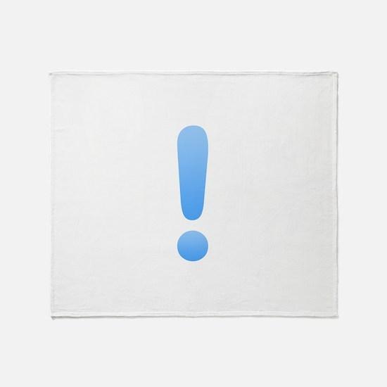 Quest Mark - Blue Throw Blanket