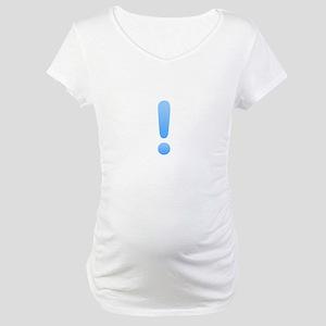 Quest Mark - Blue Maternity T-Shirt