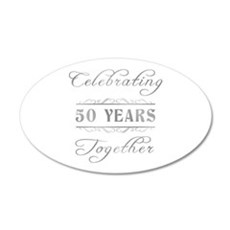 Celebrating 50 Years Together Wall Decal