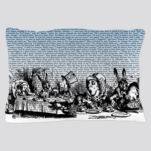 Vintage Alice Border Blue Pillow Case