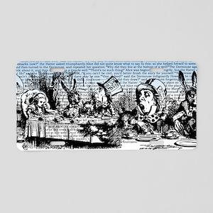 Vintage Alice Border Blue Aluminum License Plate
