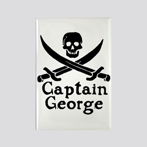 Captain George Rectangle Magnet