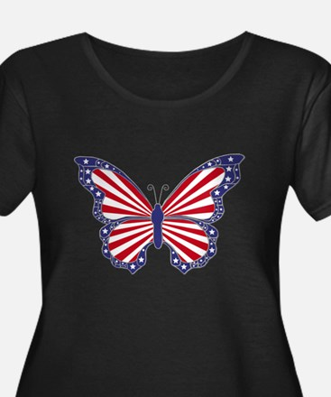 Patriotic Butterfly Plus Size T-Shirt