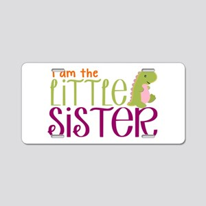 Little Sister Dinosaur Aluminum License Plate