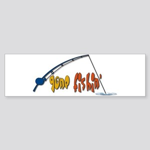 Funny Fishing Humor Sticker (Bumper)