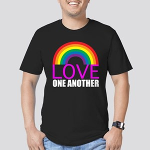 Love One Another Men's Fitted T-Shirt (dark)