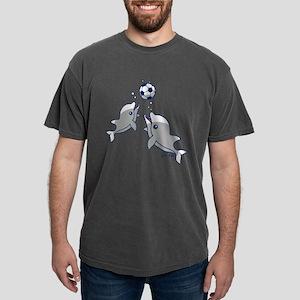 Soccer Dolphins Mens Comfort Colors Shirt