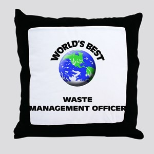 World's Best Waste Management Officer Throw Pillow