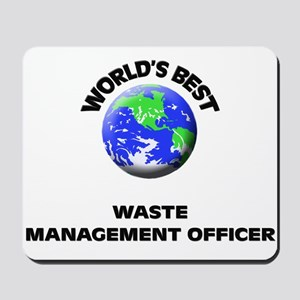 World's Best Waste Management Officer Mousepad