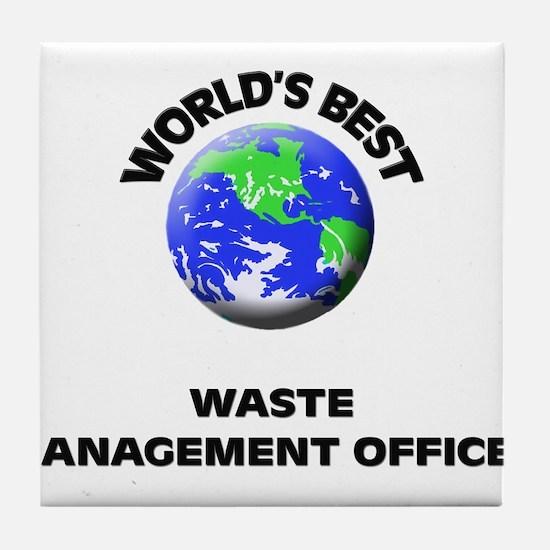 World's Best Waste Management Officer Tile Coaster