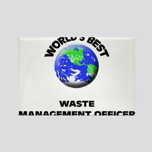 World's Best Waste Management Officer Rectangle Ma