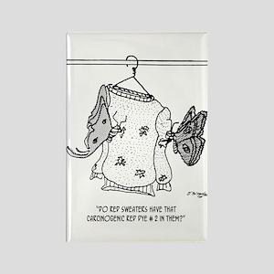 Moth Cartoon 3152 Rectangle Magnet