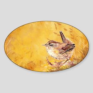 Watercolor Wren Bird Sticker