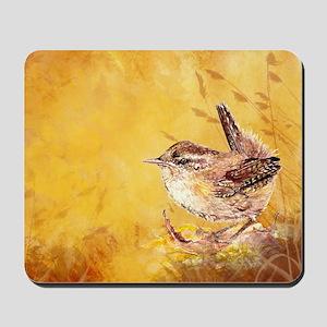 Watercolor Wren Bird Mousepad