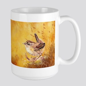 Watercolor Wren Bird Ceramic Mugs