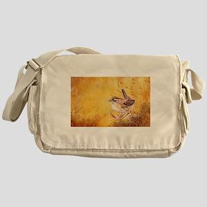Watercolor Wren Bird Messenger Bag