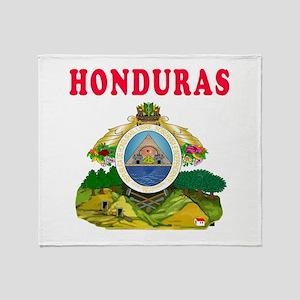 Honduras Coat Of Arms Designs Throw Blanket
