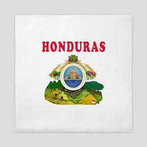 Honduras Coat Of Arms Designs Queen Duvet