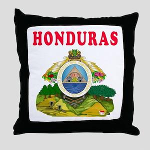 Honduras Coat Of Arms Designs Throw Pillow