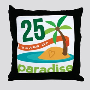 25 Years Of Paradise 25th Anniversary Throw Pillow