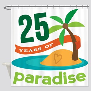 25 Years Of Paradise 25th Anniversary Shower Curta