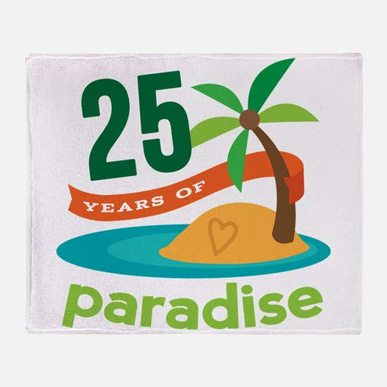 25 Years Of Paradise 25th Anniversary Throw Blanke