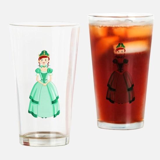 Green Princess Drinking Glass