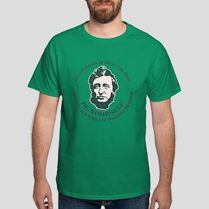 Thoreau - Be Yourself Dark T-Shirt