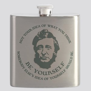 Thoreau - Be Yourself Flask
